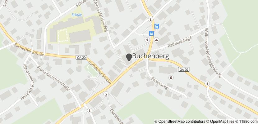 Auf Stadtplan Buchenberg bei Kempten anzeigen