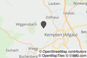 Auf Stadtplan Kempten, Allgäu anzeigen