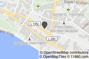 Auf Stadtplan Überlingen, Bodensee anzeigen