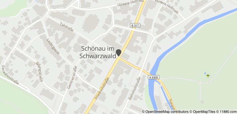 Auf Stadtplan Schönau im Schwarzwald anzeigen