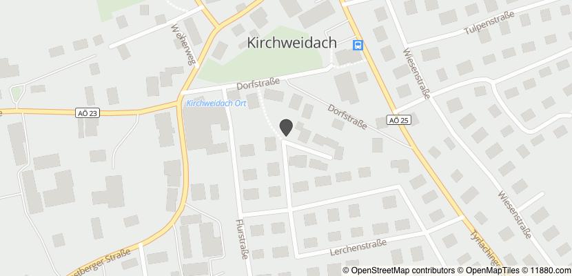 Auf Stadtplan Kirchweidach anzeigen