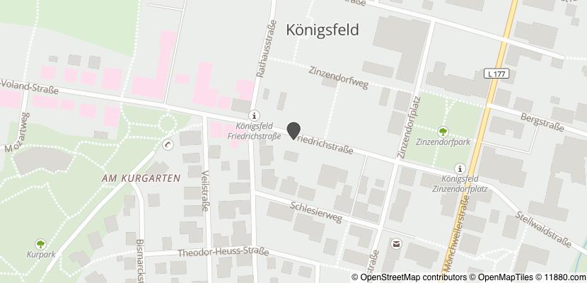 Auf Stadtplan Königsfeld im Schwarzwald anzeigen