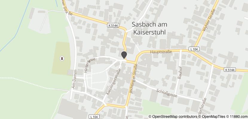 Auf Stadtplan Sasbach am Kaiserstuhl anzeigen