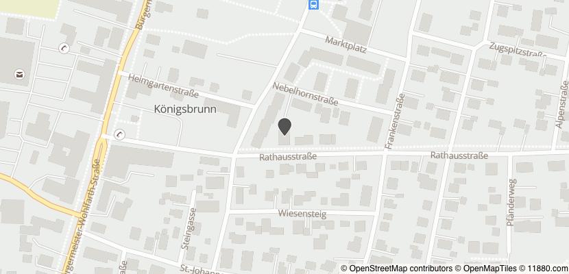 Auf Stadtplan Königsbrunn bei Augsburg anzeigen