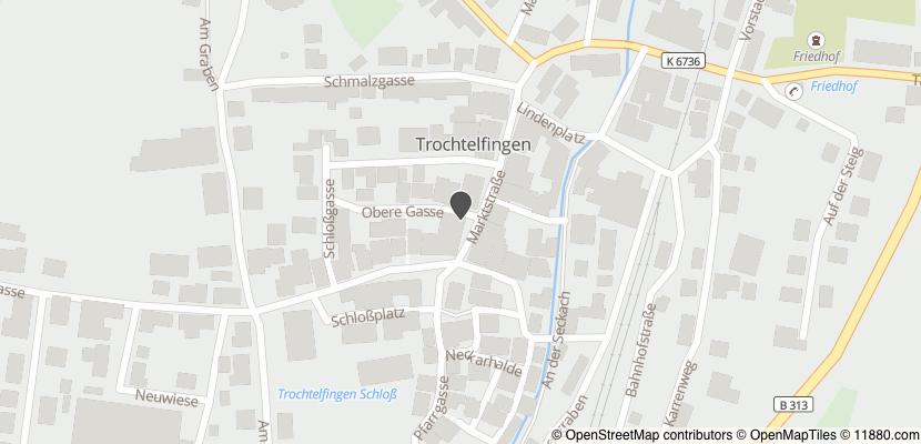 Auf Stadtplan Trochtelfingen, Hohenzollern anzeigen
