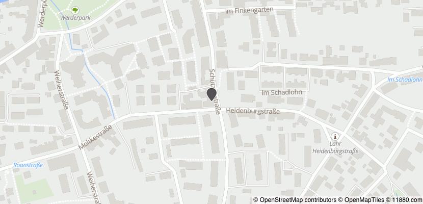 Auf Stadtplan Lahr, Schwarzwald anzeigen