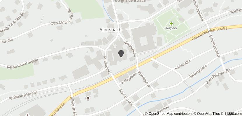 Auf Stadtplan Alpirsbach anzeigen