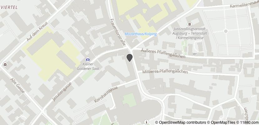 Auf Stadtplan Augsburg, Bayern anzeigen