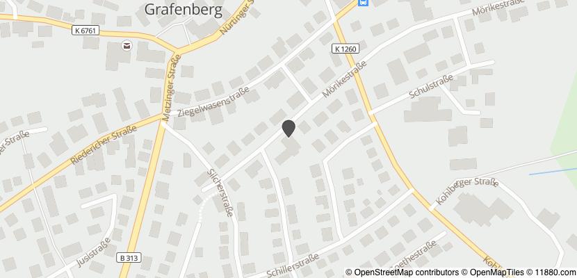 Auf Stadtplan Grafenberg, Württemberg anzeigen