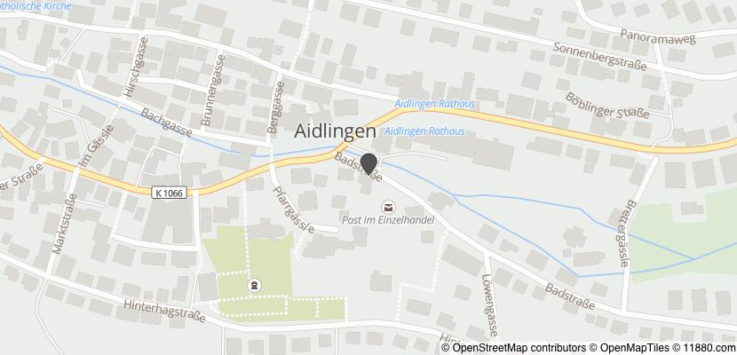 Auf Stadtplan Aidlingen, Württemberg anzeigen
