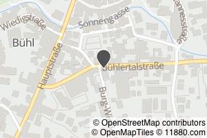 Auf Stadtplan Bühl, Baden anzeigen