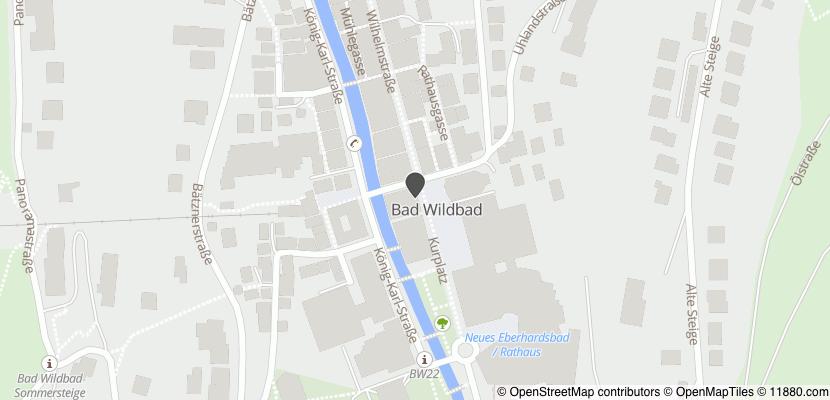 Auf Stadtplan Bad Wildbad im Schwarzwald anzeigen