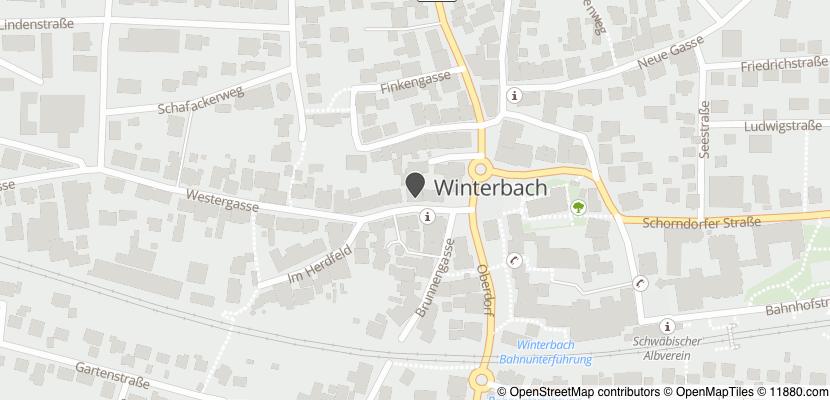 Auf Stadtplan Winterbach bei Schorndorf anzeigen