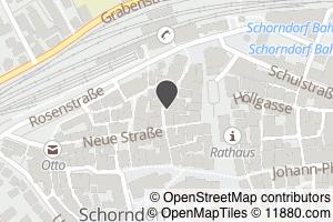 Auf Stadtplan Schorndorf, Württemberg anzeigen