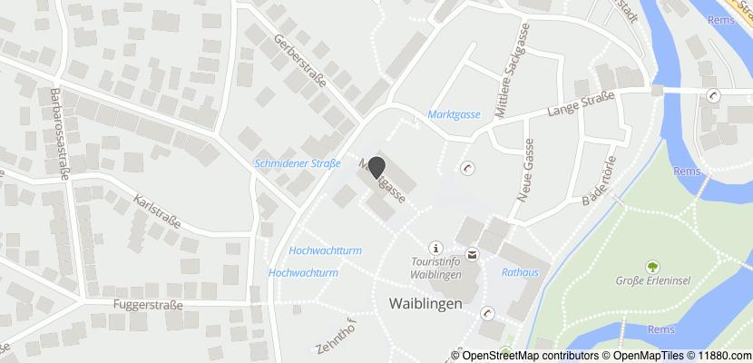 Auf Stadtplan Waiblingen, Rems anzeigen