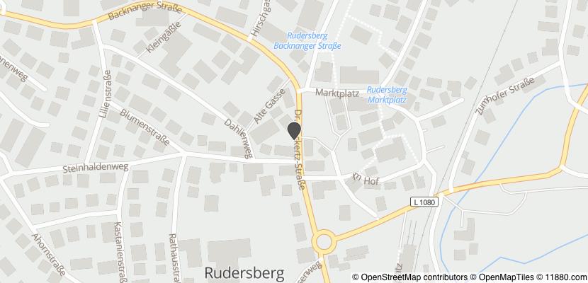 Auf Stadtplan Rudersberg, Württemberg anzeigen