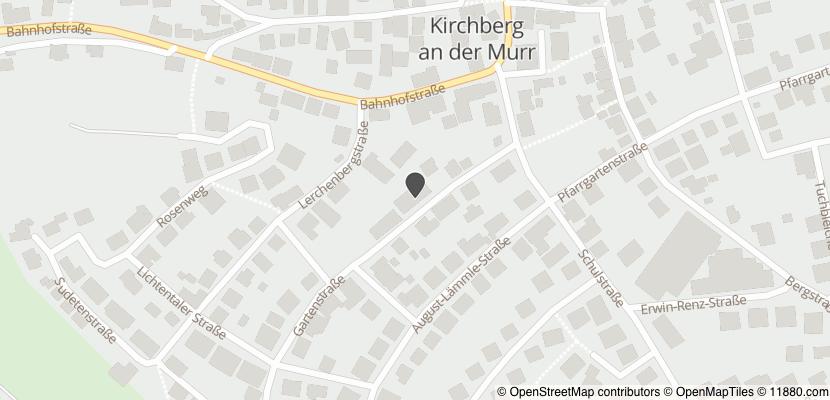Auf Stadtplan Kirchberg an der Murr anzeigen