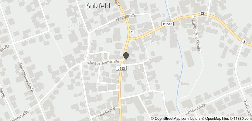 Auf Stadtplan Sulzfeld, Baden anzeigen
