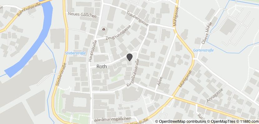 Auf Stadtplan Roth, Mittelfranken anzeigen