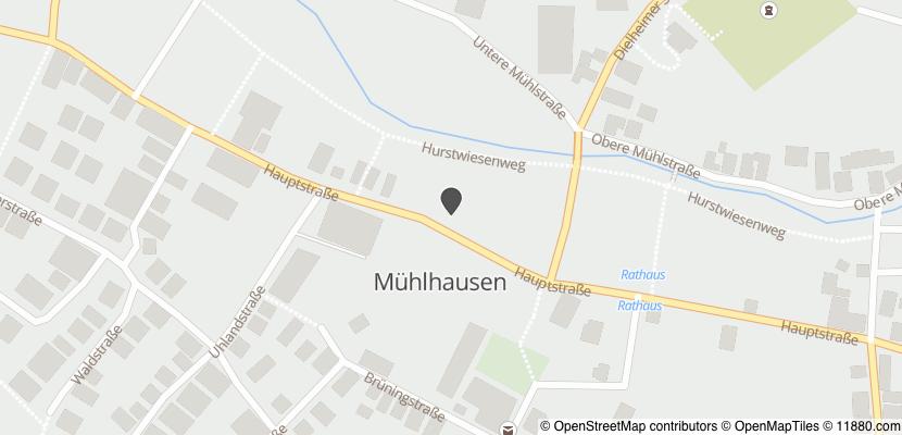 Auf Stadtplan Mühlhausen, Kraichgau anzeigen