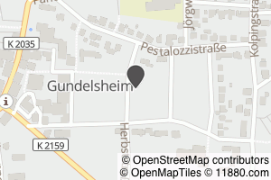 Auf Stadtplan Gundelsheim, Württemberg anzeigen