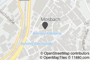 Auf Stadtplan Mosbach, Baden anzeigen