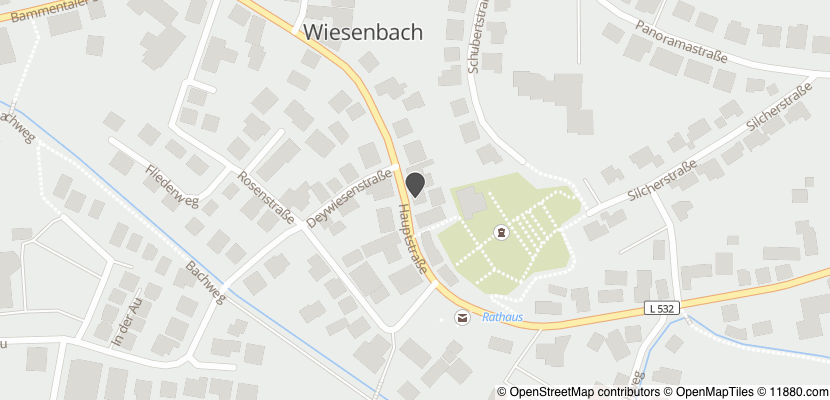 Auf Stadtplan Wiesenbach, Baden anzeigen