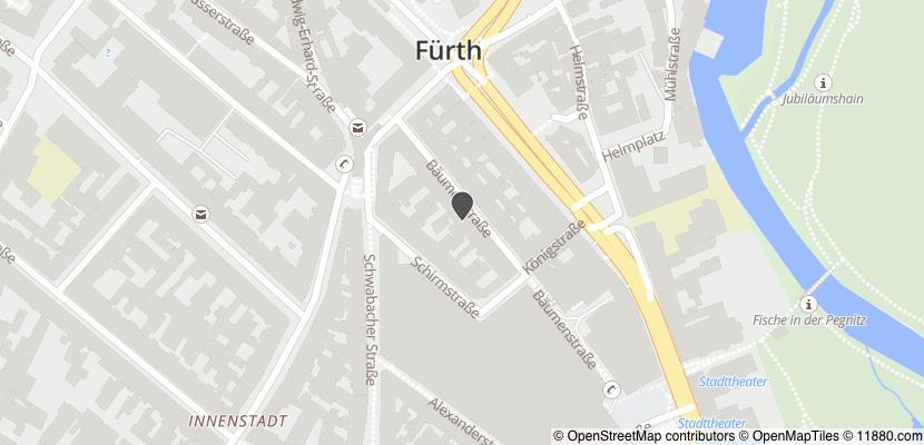 Auf Stadtplan Fürth, Bayern anzeigen