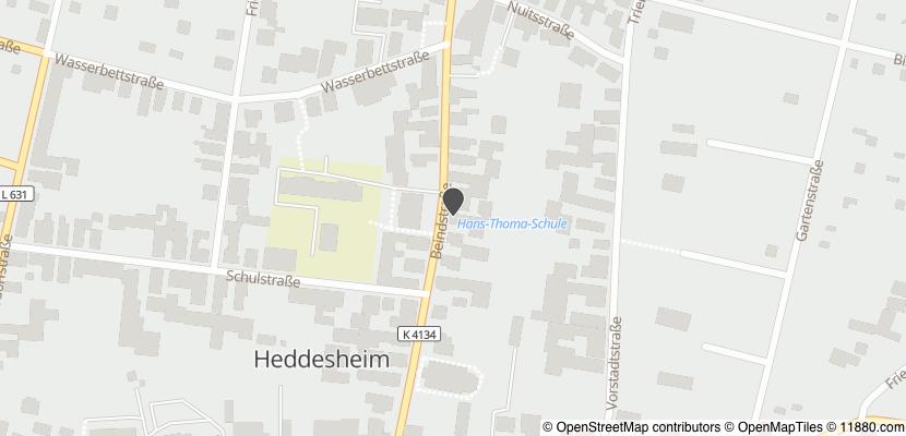 Auf Stadtplan Heddesheim, Baden anzeigen