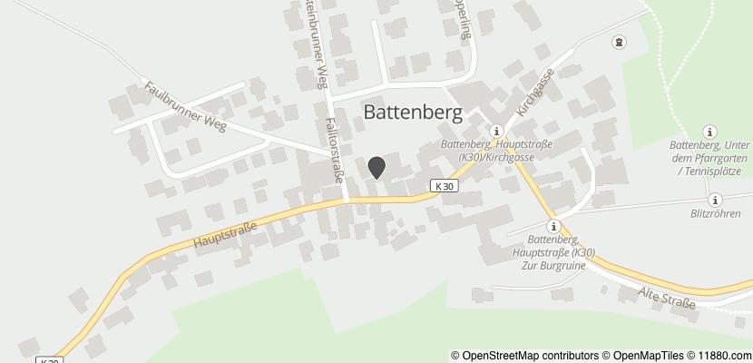 Auf Stadtplan Battenberg, Pfalz anzeigen
