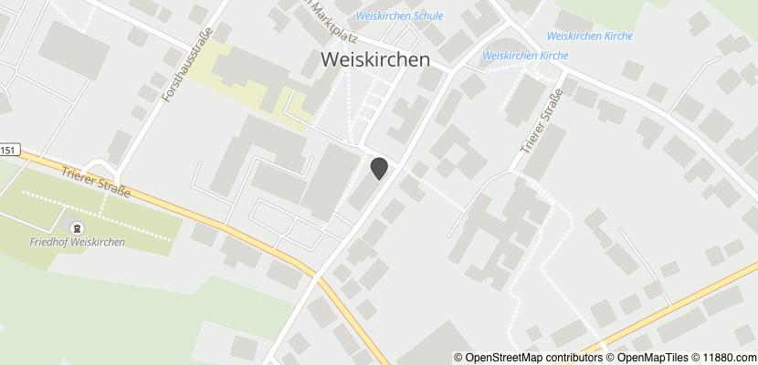 Auf Stadtplan Weiskirchen, Saar anzeigen