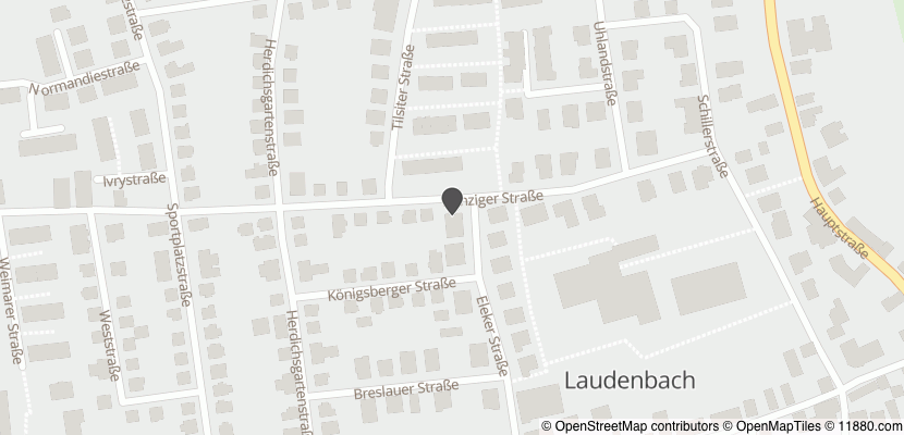 Auf Stadtplan Laudenbach, Bergstraße anzeigen