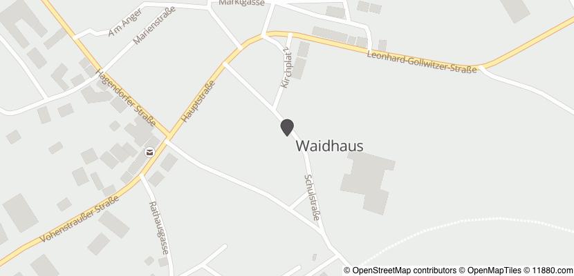 Auf Stadtplan Waidhaus anzeigen