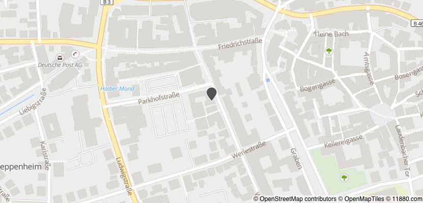 Auf Stadtplan Heppenheim, Bergstraße anzeigen