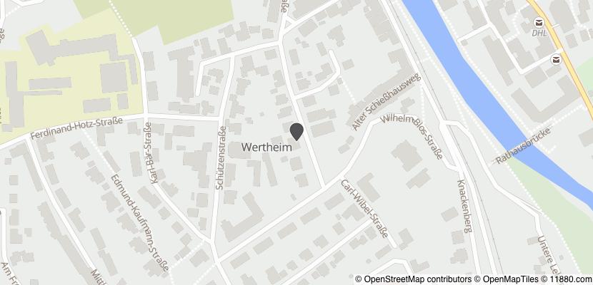 Auf Stadtplan Wertheim am Main anzeigen