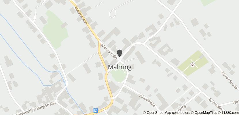 Auf Stadtplan Mähring, Oberpfalz anzeigen