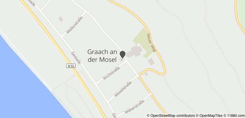 Auf Stadtplan Graach an der Mosel anzeigen