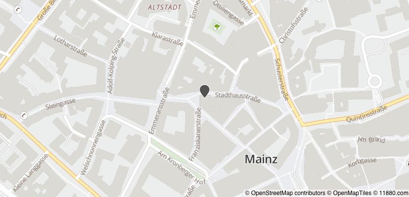 Auf Stadtplan Mainz am Rhein anzeigen