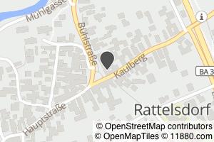 Auf Stadtplan Rattelsdorf, Oberfranken anzeigen