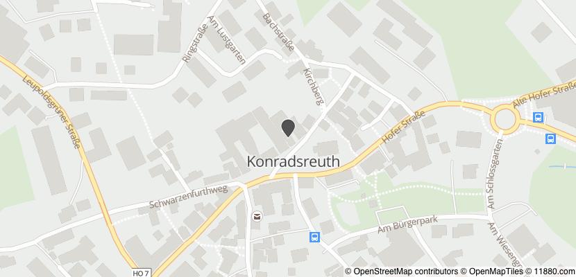 Auf Stadtplan Konradsreuth, Oberfranken anzeigen