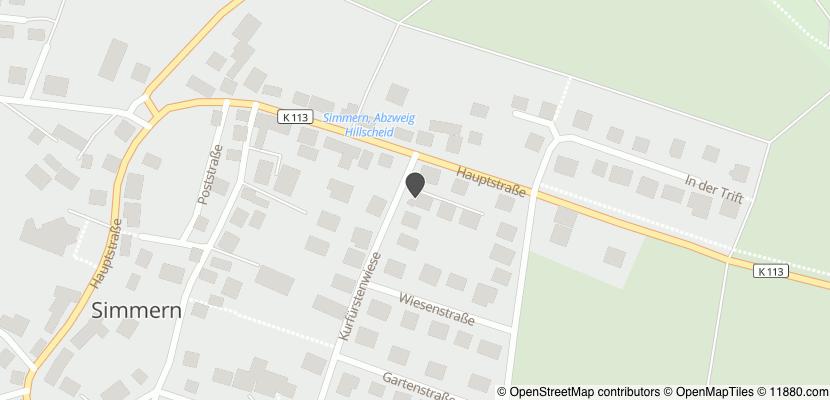 Auf Stadtplan Simmern, Westerwald anzeigen