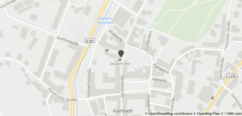 Auf Stadtplan Auerbach, Vogtland anzeigen