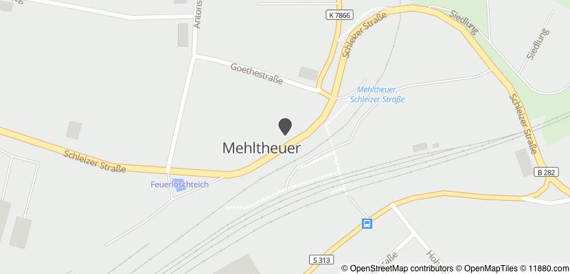 Auf Stadtplan Mehltheuer, Vogtland anzeigen