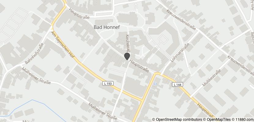 Auf Stadtplan Bad Honnef anzeigen
