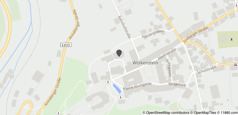 Auf Stadtplan Wolkenstein, Sachsen anzeigen