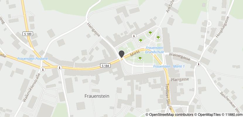 Auf Stadtplan Frauenstein, Sachsen anzeigen