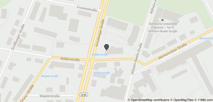 Auf Stadtplan Chemnitz, Sachsen anzeigen