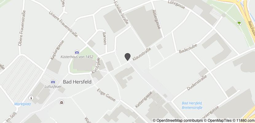 Auf Stadtplan Bad Hersfeld anzeigen