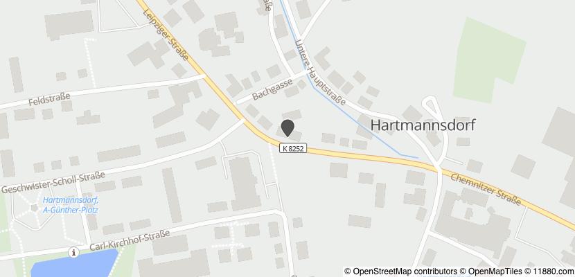 Auf Stadtplan Hartmannsdorf bei Chemnitz anzeigen