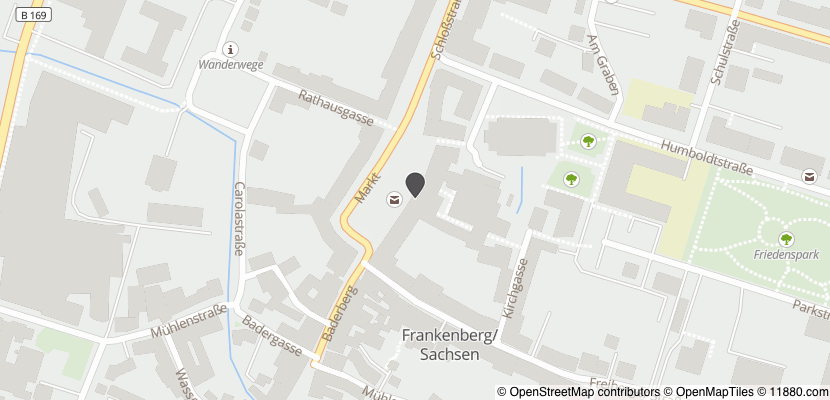 Auf Stadtplan Frankenberg, Sachsen anzeigen